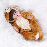 Silicone reborn baby lifelike accompany sleep