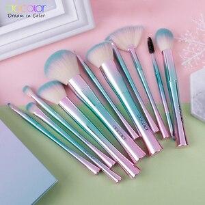 Image 5 - Docolor 11PCS Makeup Brushes set Best Christmas Gift  Powder Foundation Eyeshadow Make Up Brushes Cosmetic Soft Synthetic Hair