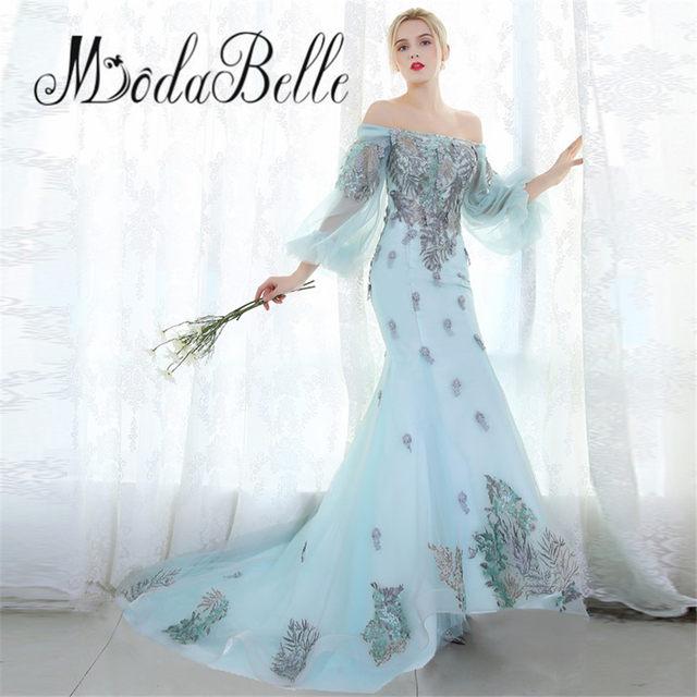 Online Shop modabelle Dubai Embroidery Flowers Evening Dresses Party ...