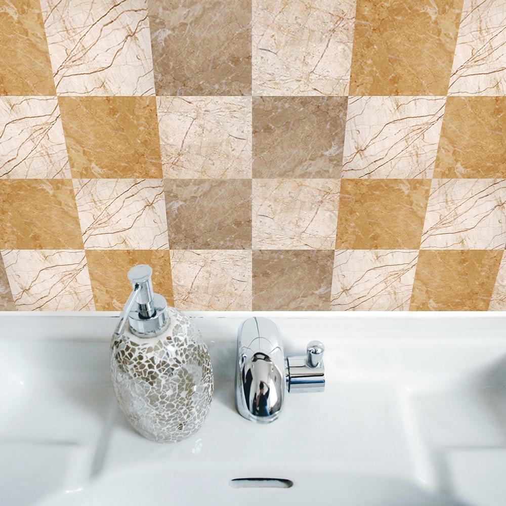 Funlife Waterproof Self adhesive Marble Tiles Texture Kitchen ...