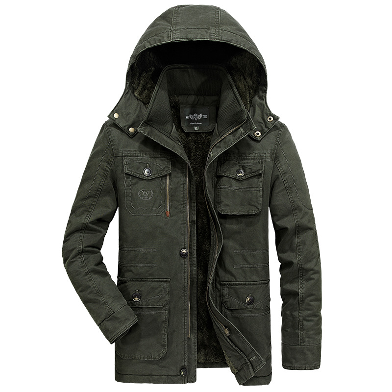 Luxury Plus Size 6XL 7XL 8XL Military Parka Men Coat 2018 Winter Thicken Warm Snow Cold Men Jackets Cotton Hooded Parkas Hombre
