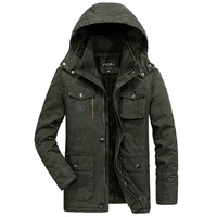 Luxury Plus Size 6XL 7XL 8XL Military Parka Men Coat 2018 Winter Thicken Warm Snow Cold Men Jackets Cotton Hooded Parkas Hombre