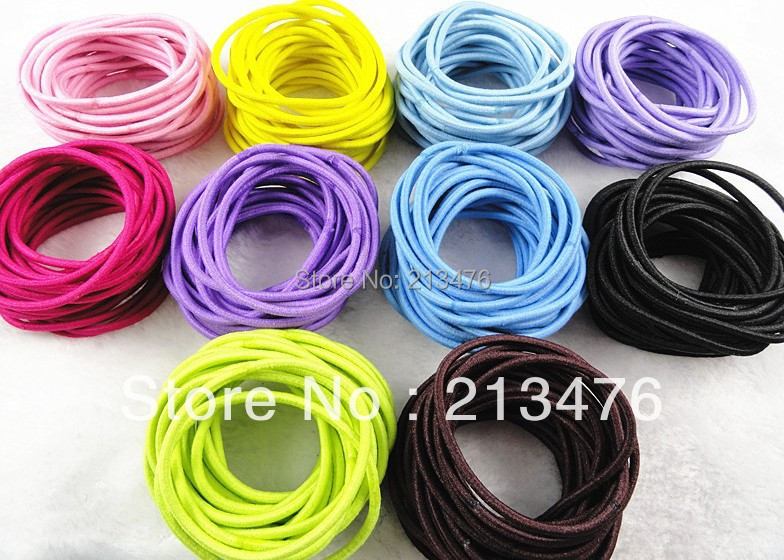 50PC wholesale mixed color with elastic tie head rubber band