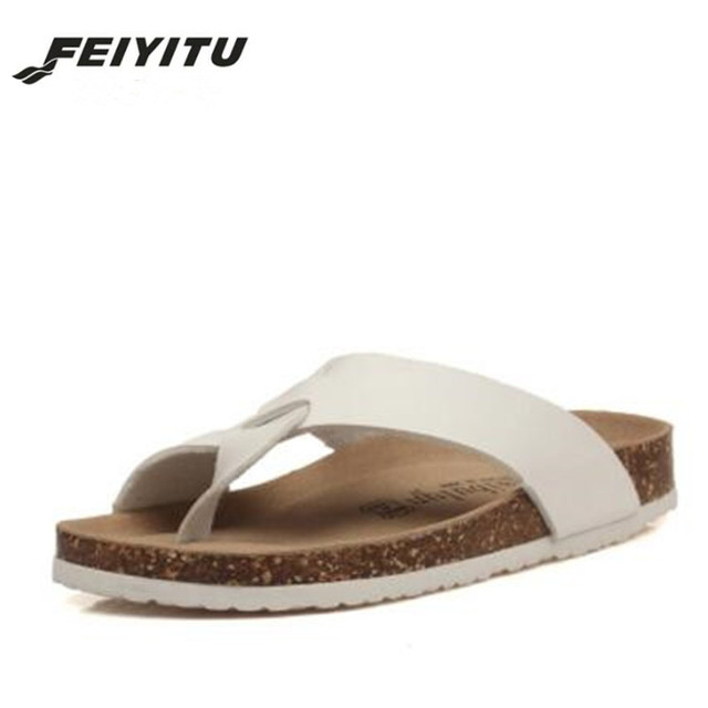 6150ed5a6afd5 FeiYiTu New Women Slipper Summer Beach Cork Flip Flops Sandals Mixed Color  Casual Slides Holiday Shoes Flat White Black Red