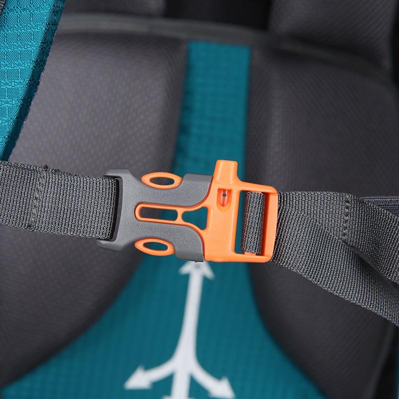 80L Camping mochilas senderismo grande al aire libre mochila bolsa de Nylon superligero deporte bolsa de viaje de aleación de aluminio de soporte 1,65 kg - 4