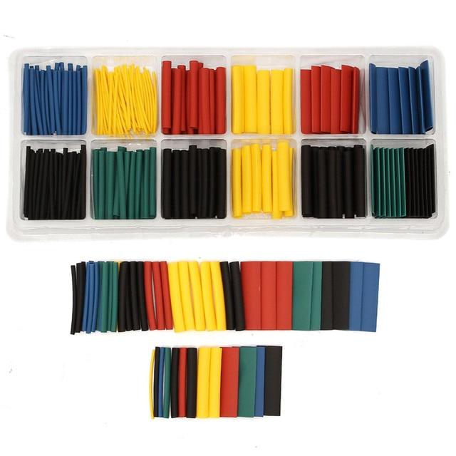 280pcs 8 Sizes Multi Color Polyolefin 2:1 Heat Shrink Tubing Tube Sleeving Tube Assortment Sleeving Wrap Wire Kit tubes Kits 2