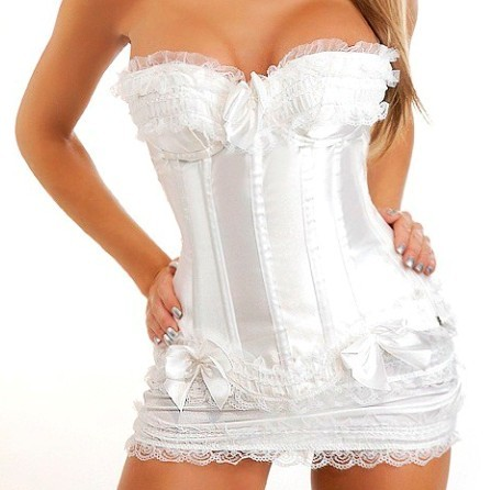 3 Colors Woman Sexy   Corset   S-6XL Plus Size Sexy Women Wedding Dress   Bustier   Bone Lace   Bustier     Corset   Corselet