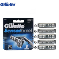Gillette Sensor Excel Men S Razor Blade Replacement Face Care Beard Shaving Original Shaver Blades 5pcs