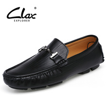Clax Men Leather Shoes Fashion Spring Autumn Men's Loafers Designer Dress Moccasin for Male Driving Shoes Slip On