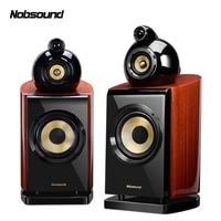 Nobsound DM8 1 Pair 6.5 inches Three Way Wood Bookshelf Speakers 2.0 HiFi Column Sound Home Professional speaker