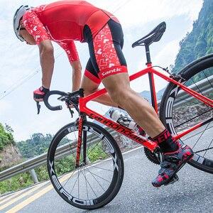 Image 4 - Santic ขี่จักรยานรองเท้าคาร์บอนไฟเบอร์จักรยานรองเท้าผู้ชาย Professional Racing ทีมรองเท้าผ้าใบ Breathable กีฬากลางแจ้งรองเท้า