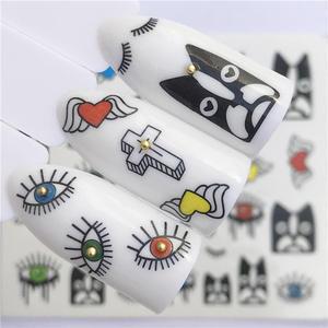 Image 3 - LCJ 32 Styles Available  Flower Nail Stickers Water Transfer Decals Decoration Dream Cather Slider For Nail DIY Tips