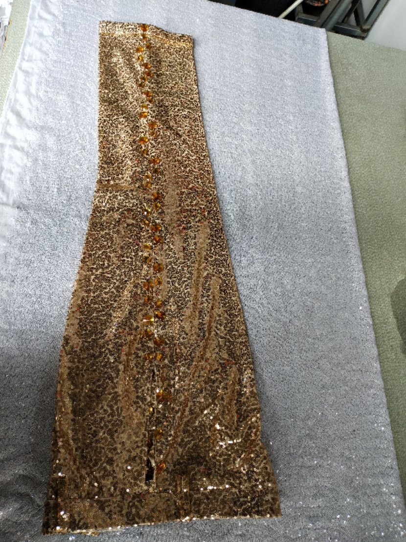 Free ship mens stage performance golden sequined beading pants