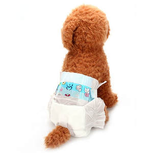 10pcs pet diapers female dog Physiological Pants pre-packaging ultra Soft Disposable comfortable puppy diaper for dog pet pad