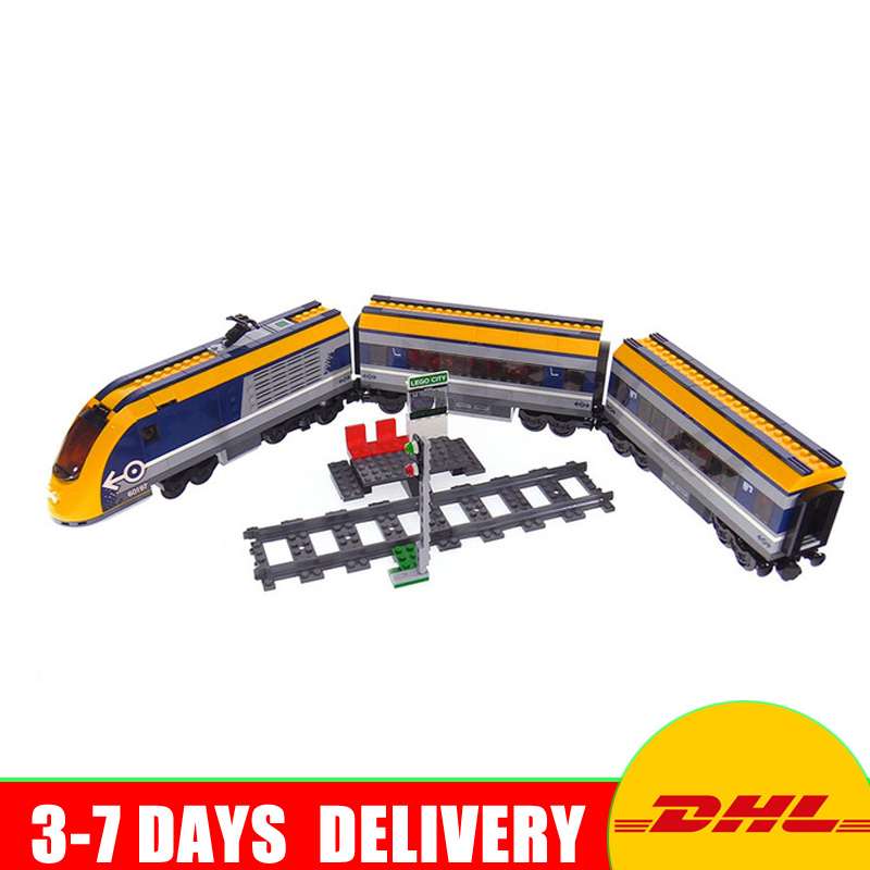 2018 Classic Lepin 02117 City Series Passenger Train Model 60197 Building Blocks Bricks Compatible toy for children DIY Gifts