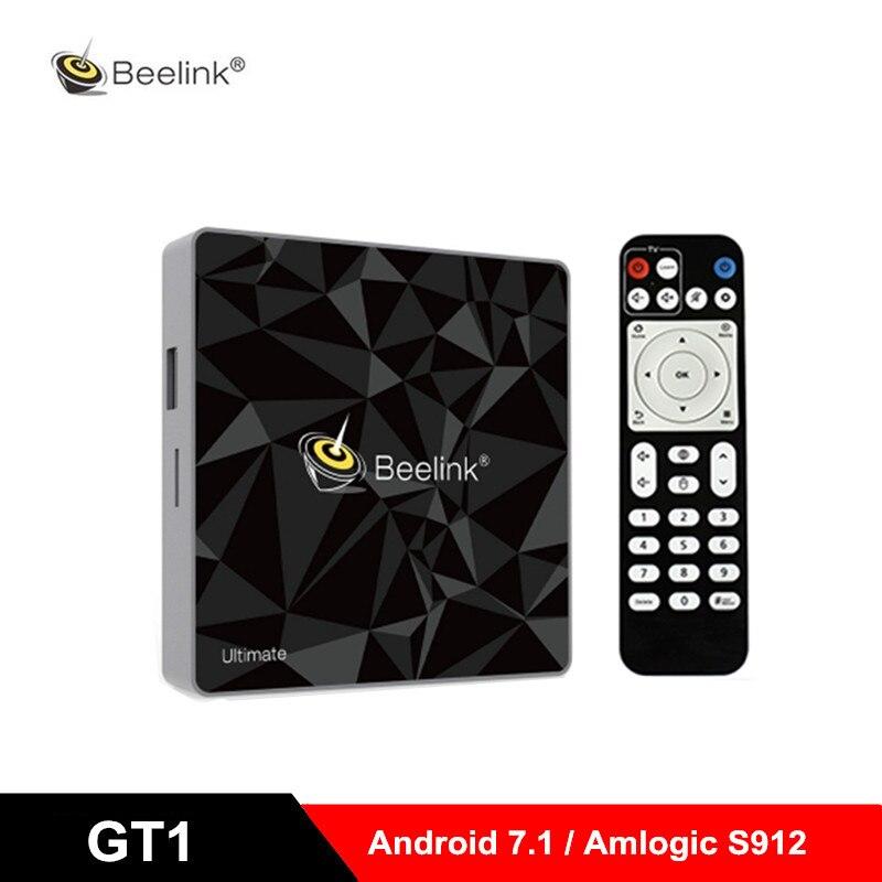 Beelink GT1 GT1-A ultime Android 7.1 TV Box Amlogic S912 Octa Core CPU 3G RAM 32G ROM Bluetooth 4.0 UHD 4K décodeur