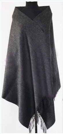 Зима Горячие Черный Для женщин шерстяная накидка Кашемир пашмины сплошной Цвет шарф шаль негабаритных 180*72 см - Цвет: drak gray