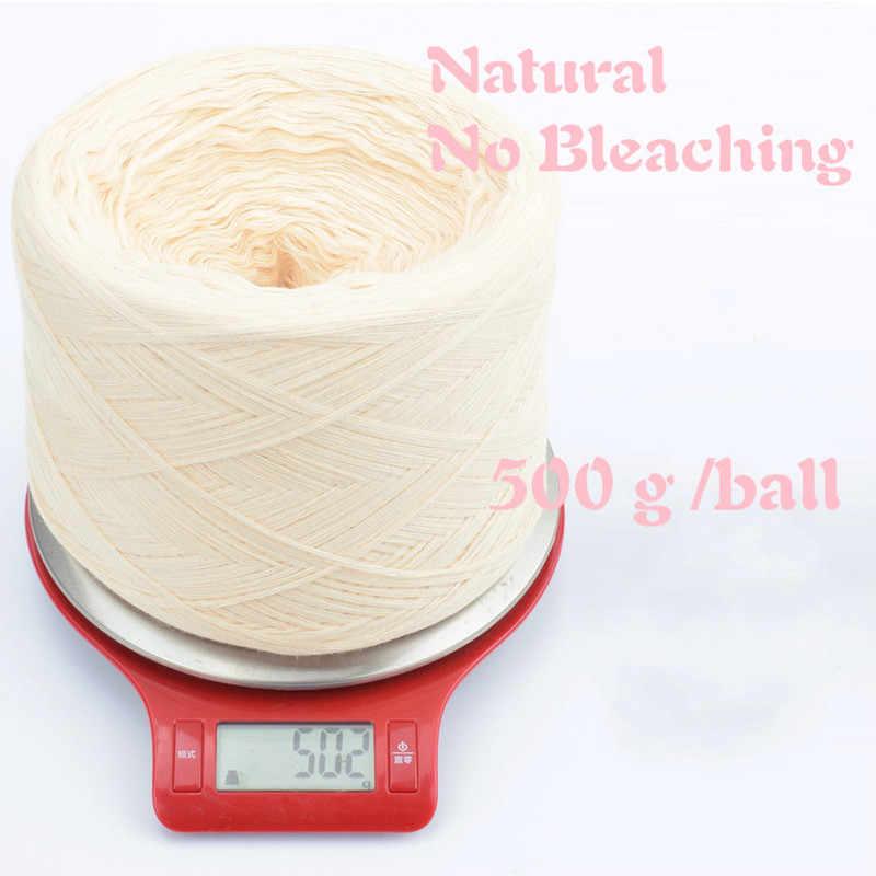 500G/bal Geen Bleken 100% Katoenen Garen voor Pasgeboren Baby Diy Breigaren Haak Kinderen Trui jurk Ambachtelijke Materialen