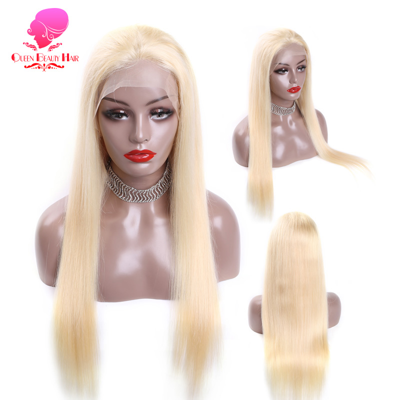 QUEEN BEAUTY Natural Hairline Lace Front Human Hair Wigs Brazilian Remy Hair with Baby Hair Pre
