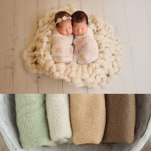 50160 cm newborn photography props baby wrap photo shoot accessories photograph for studio