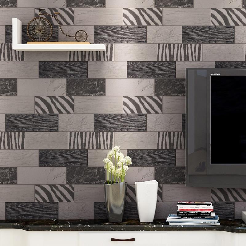 Beibehang bleu en bois rayures verticales moderne rayé papier peint rouleau papel de parede Photo murale papier peint 3D salon