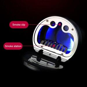 Image 3 - البوصلة LED منفضة سجائر متعددة وظيفة الصمام الإضاءة مضيفا الرومانسية اللون مضيئة البوصلة منفضة سجائر المدخن ختم