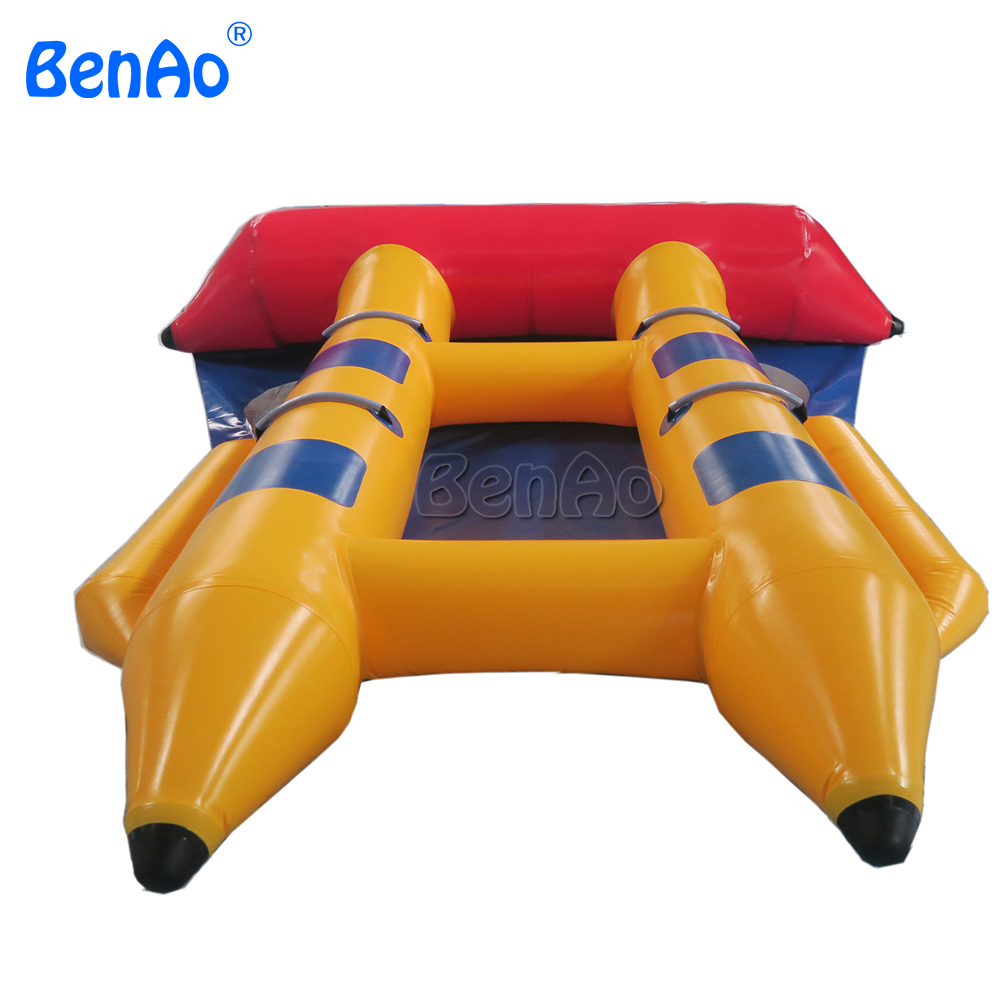 B016 BENAO  Excellent quality and cheap price inflatable flyfish banana boat/PVC Tarpaulin Inflatable Flying Fish Tube Towable 3 8 person inflatable towable water sports inflatable single tube banana boat