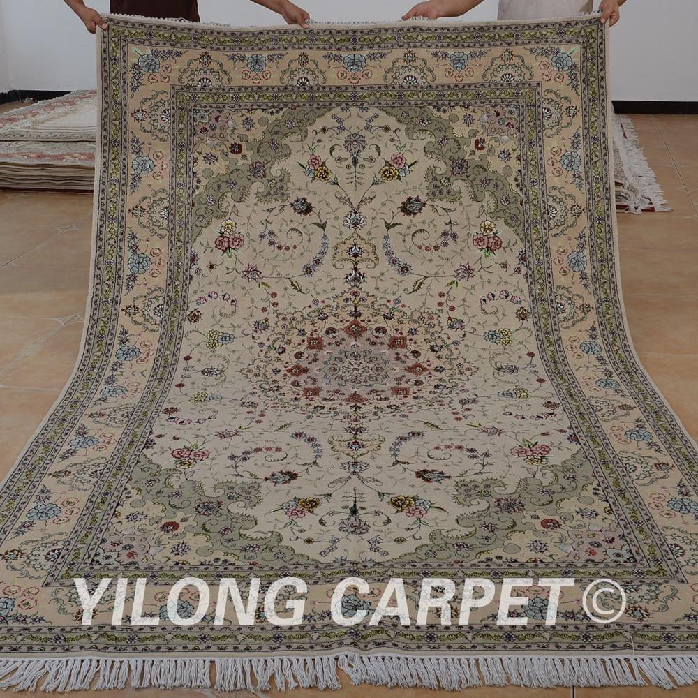 Yilong 6 X9 Chinese Wool Silk Carpet Exquisite Handmade Rug 1456