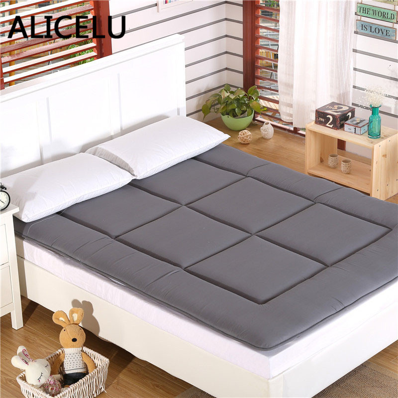 Foldable Mattress Pad: ALICELU Thickened Foldable Bed Mattress Pad Sheets Double
