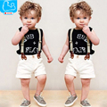 Baby Boy Clothes Summer Cotton Children Clothing Sets Short T-Shirt+Pants+Strap Handsome Baby Boy Clothing Set Outfits Clothes