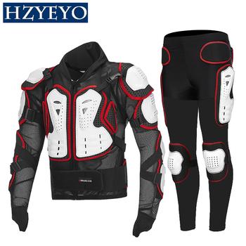 Pancerz motocyklowy pasuje do Motocross + Gears długie spodnie ochrona motocykl pancerz wyścigi ochrona tyłu HZYEYO D-232 tanie i dobre opinie Kombinacje motorcycle protection gear Unisex Poliestru i nylonu Adults S M L XL XXL XXXL XXXXL