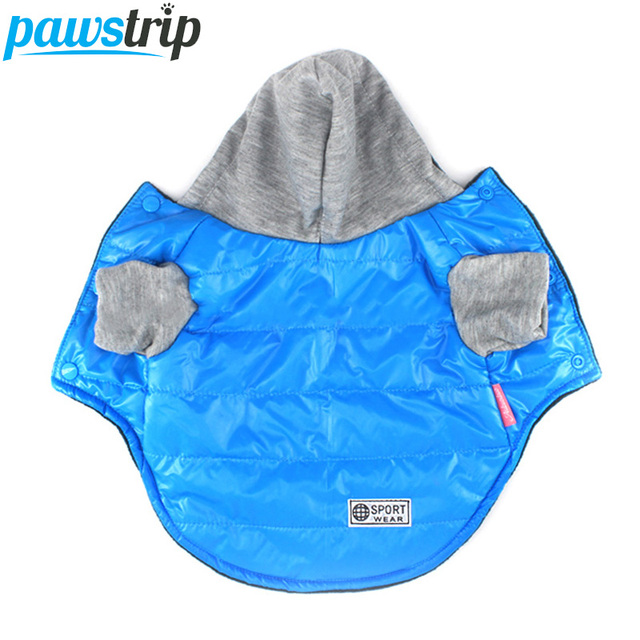 5 Colors Winter Pet Dog Jacket Coat Thickening Warm Puppy Dog Clothes With Hood Size 8-18