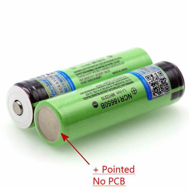 新オリジナル 18650 3.7 v 3400 mah のリチウム充電式バッテリー NCR18650B と指摘 (No PCB) 電池 + ボックス