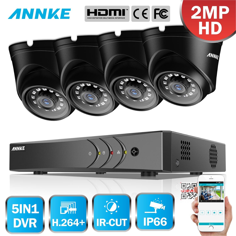 ANNKE 4CH H 264 1080P Lite CCTV System DVR 4pcs 2 0MP IR Night Vision Security