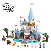 9 Style Princess Castle Building Blocks Cinderella Castle Mermaid Elsa Anna Building Figure Girl Bricks Compatible