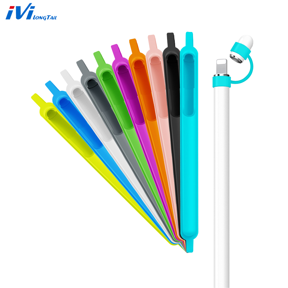Screen Pen Tablet Pencil Case Holder Cap Protective Sleeve Stylus Soft Silicone Cover Pouch For Apple iPad Pro Pencil 9.7