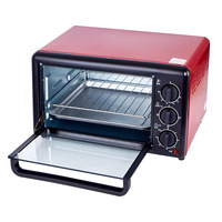 Multi function Home Mechanical 19L Electric Oven Horizontal Cake Bread Baking Machine Mini Oven Temperature Control Timing Gift