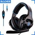 SADES SA 810 3 5mm Stereo Gaming Headset Kopfhörer Multi plattform Für PS4 Xbox One PC Mac Laptop Telefon|Handy-Ohrhörer und Kopfhörer|Verbraucherelektronik -