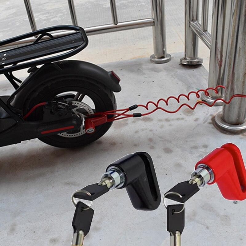 Anti-robo de los frenos de disco de cerradura con alambre de acero para Xiaomi Mijia M365 Scooter Eléctrico ruedas de Skate de bloqueo de freno de disco kickscooter
