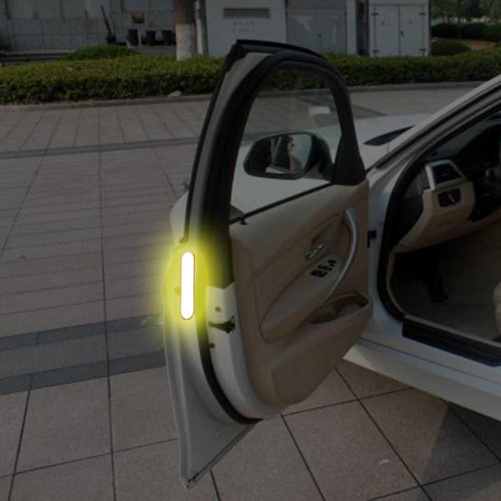 2 pièces autocollant de porte de voiture autocollant bande d'avertissement bandes réfléchissantes pour Audi A4 Avant A4 Cabriolet A6L A8L TT TTS toutes les voitures