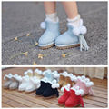 1 Pair Cute Snow Boots for Blyth, Licca, Lati-y, 1/8 BJD Doll Shoes Accessories