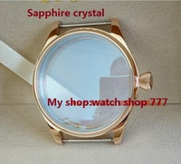 Sapphire Crystal Parnis 44MM Stainless Steel Watch Case Fit 6497 6498 Mechanical Hand Wind Movement PVD