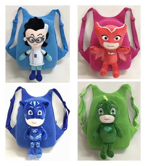 Anime Figures pj masked Character Catboy Owlette pjmask plush bag backpack Action Figure ...