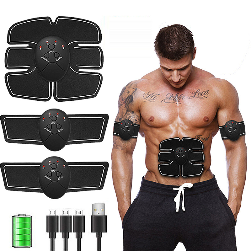 Rechargeable Arm Muscle Exerciser Slimming Tool ABS Abdominal Muscle Stimulator Wireless Smart Fitness EMS Training Helper