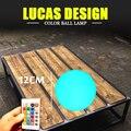 Dia 12 cm Bola LED lâmpada de mesa recarregável mood desk lâmpada bola de luz