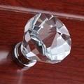 40mm moda de luxo moderna k9 de cristal tranparent ganha gabinete maçanetas puxadores dresser puxa maçaneta da porta de madeira de vidro de prata