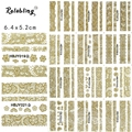 Rolabling beauty 3D Golden Self-adhesive nail sticker Lace design Serie for nail art stickers design