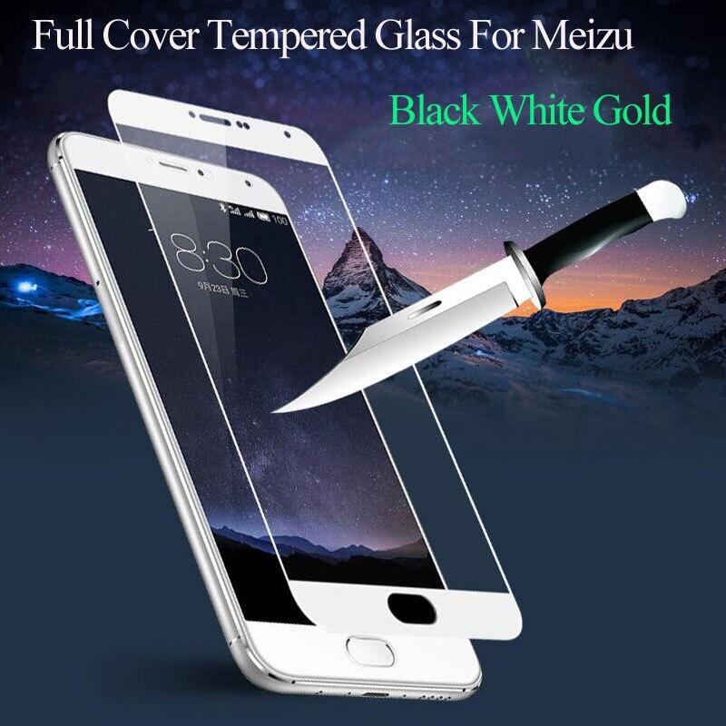 9 H de la cubierta de vidrio templado para Meizu M5 M3 nota M3S mini M5C U10 U20 Pro 6 7 Plus película endurecida de Color Protector de pantalla MX6
