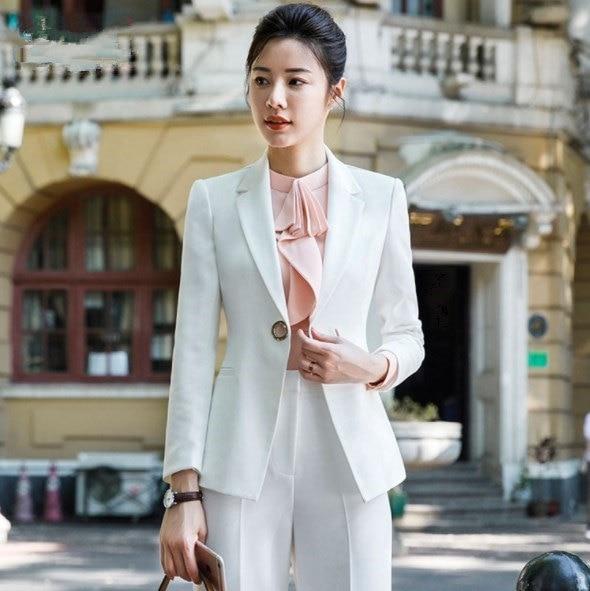 Black White Wide Leg Pant Suits for Women Plus Size Pantsuit Womens 2 Pieces Set Blazer and Pant Office Lady Trouser Suit 4XL