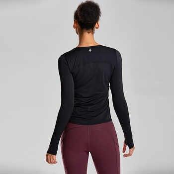 CRZ โยเกิร์ตสตรี Naked Feeling Active แขนยาวออกกำลังกายวิ่งกีฬาระบายอากาศเสื้อยืด